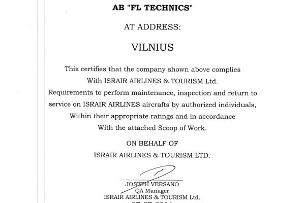 Israir Line maintenance VNO Approval Authorization-1