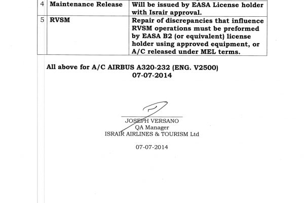 Israir Line maintenance VNO Approval Authorization-2